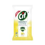 Cif Disinfect & Shine Lemon Wipes