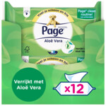 12x Page Vochtig Toiletpapier Aloe Vera