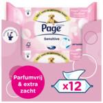 12x Page Vochtig Toiletpapier Sensitive