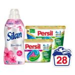 Persil Wasmiddelcapsules Color + Universal Discs & Silan Wasverzachter Voordeel Pakket