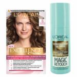 L'Oréal Excellence Creme 6 Donker Blond + Magic Retouch Uitgroeispray Donkerblond 75 ml Pakket