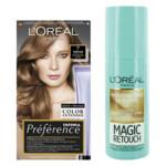 L'Oréal Preference Haarkleuring 07 Vienne - Midden Blond + Magic Retouch Uitgroeispray Middenblond 75 ml Pakket