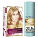 L'Oréal Excellence Creme Haarverf 8.3 Licht Goudblond + Magic Retouch Uitgroeispray Blond 75 ml Pakket