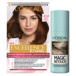 L'Oréal Excellence Creme Haarverf 4.54 Kastanje Middenbruin + Magic Retouch Uitgroeispray Middenbruin 75 ml Pakket