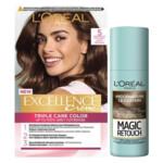 L'Oréal Excellence Creme 5 Lichtbruin + Magic Retouch Uitgroeispray Middenbruin 75 ml Pakket