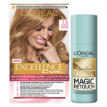 L'Oréal Excellence Creme Haarverf 7.3 Goudblond + Magic Retouch Uitgroeispray Blond 75 ml Pakket