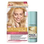 L'Oréal Excellence Creme 9 Zeer Licht Blond + Magic Retouch Uitgroeispray Blond 75 ml Pakket