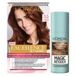 L'Oréal Excellence Mahonie Haarverf Middenbruin en uitgroei set Pakket