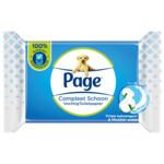 Page Vochtig Toiletpapier Compleet Schoon