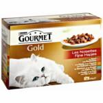 Gourmet Gold Multipack Fijne Hapjes Rood  12 x 85 gr