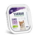 Yarrah Bio Kuipje Brokjes Kattenvoer Kip - Kalkoen