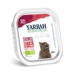 Yarrah Bio kuipje Brokjes Kattenvoer  Rund