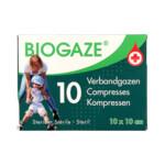 Biogaze Kompress 10 x 10 cm  10 stuks