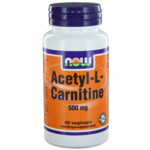 NOW Acetyl L Carnitine 500mg   50 Capsules