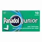 Panadol Junior Zetpillen 250 mg 1 jaar - 6 jaar