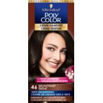 Poly Color Crème Permanente Haarverf 46 Bruin Zwart  90 ml