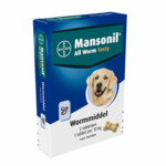 Mansonil Hond All Worm Tasty   2 tabletten
