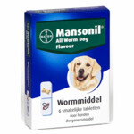 Mansonil Hond All Worm Tasty   6 Tabletten