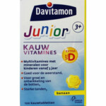 Davitamon Junior 3+ Kauwvitamines Banaan  120 kauwtabletten