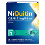 Niquitin Clear Nicotinepleisters 21 mg Stap 1