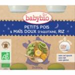 Babybio Slaap Lekker Maaltijd 6+ mnd Erwten Mais Rijst