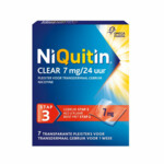 Niquitin Clear Nicotinepleisters 7 mg Stap 3