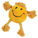 Happy Pet Flostouw Smiley Geel