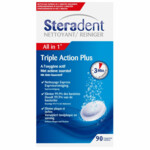 Steradent Triple Action Plus Kunstgebit Reiniger
