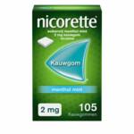 Nicorette Kauwgom Menthol Mint 2 mg