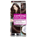 L'Oréal Casting Crème Gloss Haarkleuring 323 Hot Chocolate - Donker Parelmoer Goudbruin