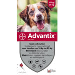 Advantix Spot On 250 Anti-Vlo en Teek 10 - 25 kg