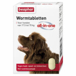 Beaphar Wormtablet All-in-one Hond 17,5 - 70 kg   2 tabletten