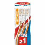 Aquafresh Tandenborstel Clean & Flex Medium  3 stuks