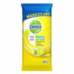 4x Dettol Reinigingsdoekjes Power & Fresh Citrus