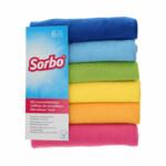 Sorbo Microvezeldoeken Trendy Colors 40 x 40 cm  6 stuks