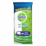 4x Dettol Reinigingsdoekjes Power & Fresh Original