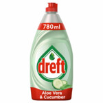 Dreft Clean & Care Afwasmiddel Aloe Vera & Cucumber
