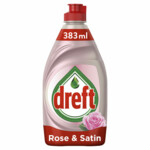 Dreft Clean & Care Afwasmiddel Rose & Satin  383 ml