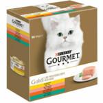 6x Gourmet Gold Mousse Kip - Zalm - Niertjes - Konijn