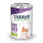 Yarrah Bio Brokjes in Saus Kattenvoer Kip - Kalkoen