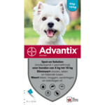 Advantix Spot On 100 Anti Vlo en Teek 4 - 10 kg  6 pipetten