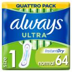 Always Maandverband Ultra Normal  64 stuks