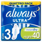 Always Maandverband Ultra Secure Night  40 stuks