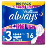 Always Maandverband Platinum Ultra Night  16 stuks