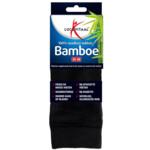 Lucovitaal Bamboe Sok Lang Zwart Maat 35-38