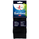 Lucovitaal Bamboe Sok Lang Zwart Maat 43-46
