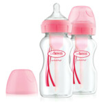 Dr. Browns Options+ Brede Halsfles 2-Pack Roze  270 ml