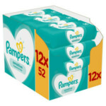 12x Pampers Billendoekjes Sensitive Navulpak  52 doekjes