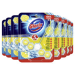 9x Glorix Toiletblok Power 5 Lemon