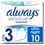 Always Maandverband Sensitive Essentials Night